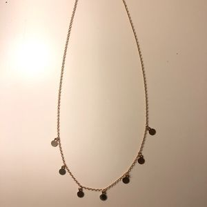 Brandy Melville Gold Mirror Charm Necklace